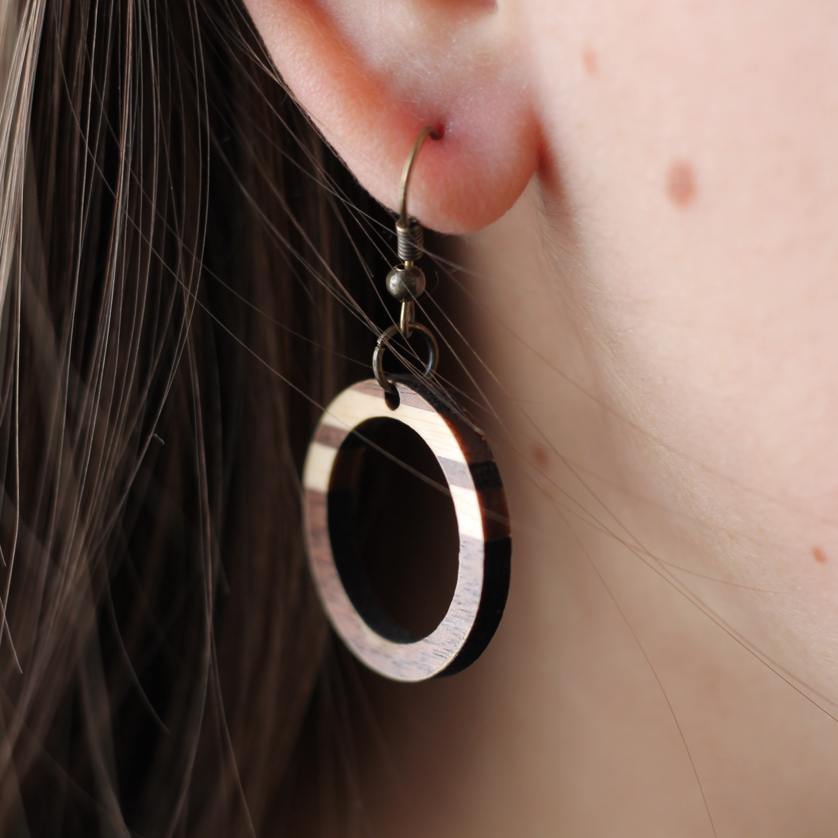 filled marisa hoop gold everyday earrings shop rose